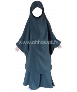 Jilbab enfant - 2 pièces jupe - Microfibre de Dubai