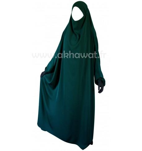 Jilbab-1-piece-elbassira-fursan-vert-canard