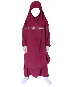 Jilbab enfant/ado - 2 pièces sarouel