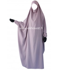 Butterfly jilbab with sleeves - Full length - Light microfiber