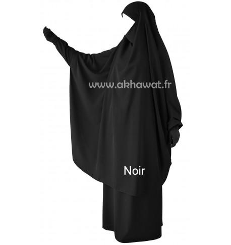 Jilbab Papillon à manchettes - 2 pièces jupe - Microfibre Léger