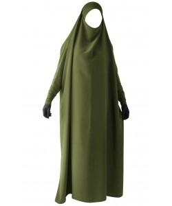 Full length Jilbab - lycra band and sleeves - Koshibo