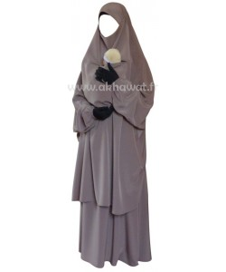 French Jilbab with flared skirt - Koshibo 14
