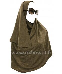 Hijab spécial écouteurs/lunettes - en maille