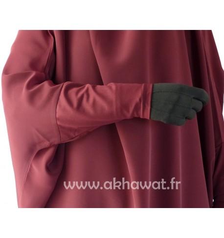 Jilbab manches serrées - bonnet lycra stretch - une pièce