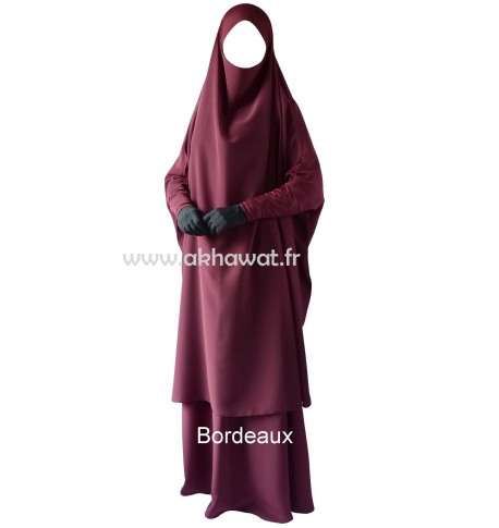 Jilbab with lycra head band and sleeves - 2 pieces with skirt - Koshibo