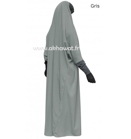Full length Jilbab - stretch headband and sleeves - Light microfibre