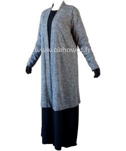 Long cardigan - heather fabric