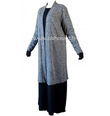 Long cardigan - heather fabric