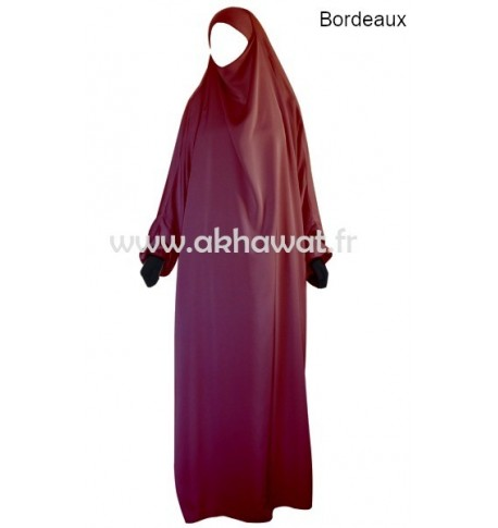 Jilbab 1 pièce - Topaze - noir - El bassira