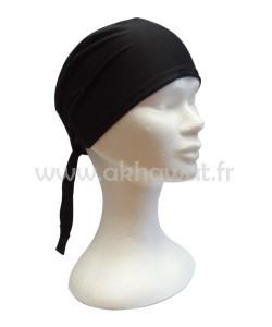 Tie back cap