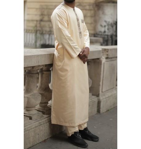 """Qamis """"cotton"""" uni - Manches longues"""