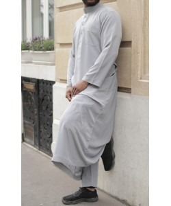Qamis Qatari simple peach skin - With pants