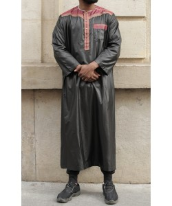 "Qamis Omani ""Satin like"" - With pants - Short sleeves"