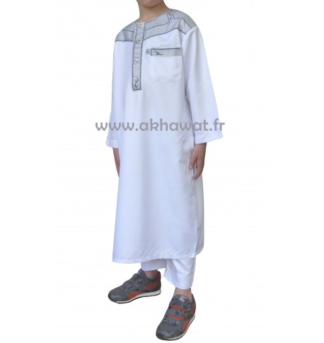 Qamis bi-color Boy - Long sleeves
