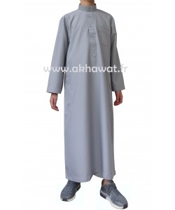 Qamis Qatari Garçon - Peau de pêche - Avec pantalon