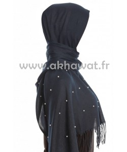 Pashmina hijab with pearls