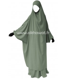 Butterfly style jilbab with straight skirt - Caviary
