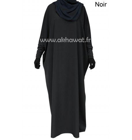 Ample Abaya - Tight lycra sleeves - Light microfiber