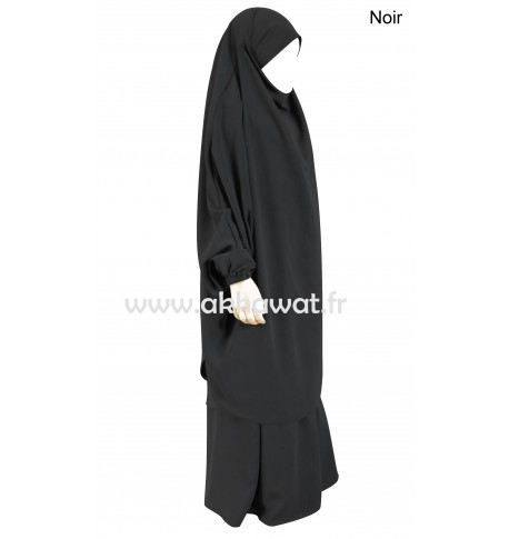 French Jilbab with straight skirt - Light microfiber