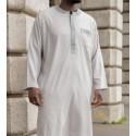 Qamis bi-color avec pantalon - Toucher Viscose