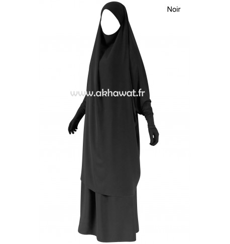 Stretch sleeves Jilbab- Light microfibre - 2 pieces with skirt