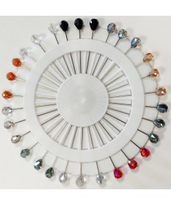 30 Big hijab pins - Crystal