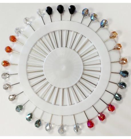 30 Big hijab pins - Crystal