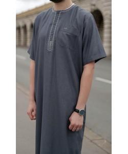 """Qamis """"cotton"""" uni - Manches courtes"""