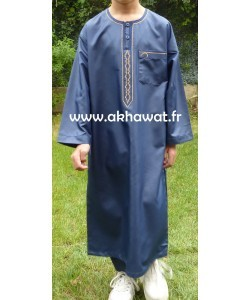 Qamis bi-color Boy - with pants - Satin like