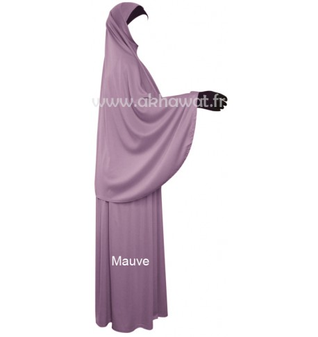 French Jilbab with flared skirt - Light microfiber