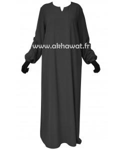 abaya-elastique-caviary-elbassira-akhawat-face
