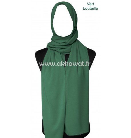 Grand hijab opaque - Mousseline crêpe