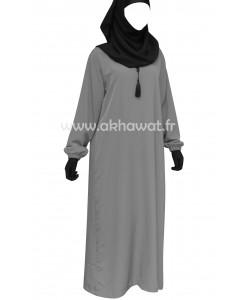 Abaya ample avec élastique - Microfibre de Dubaï - Alhaya