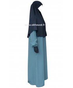 Hijab façon cape de jilbab - Microfibre léger