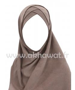 Hijab bonnet intégré - Maille