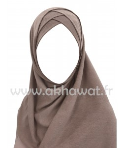 Ready to wear - Crossed hijab - Crepe & Viscose