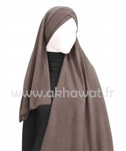 Ready to wear - Crossed hijab - Crepe & Viscose