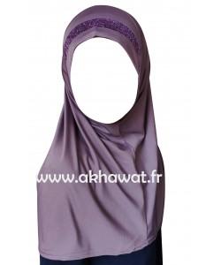 Hijab 1 pièce pour fille - Lurex