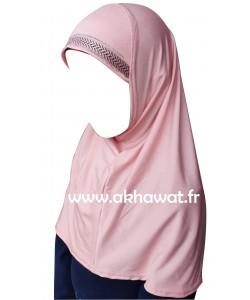 Hijab 1 pièce pour fille - Chevron