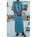 Qamis bi-color - Short sleeves