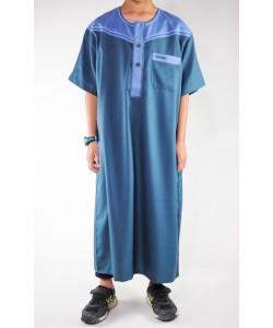 Qamis bi-color Boy - Short sleeves