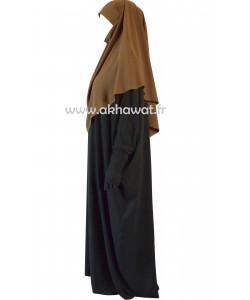 Tie back Khimar - short version - Light microfibre