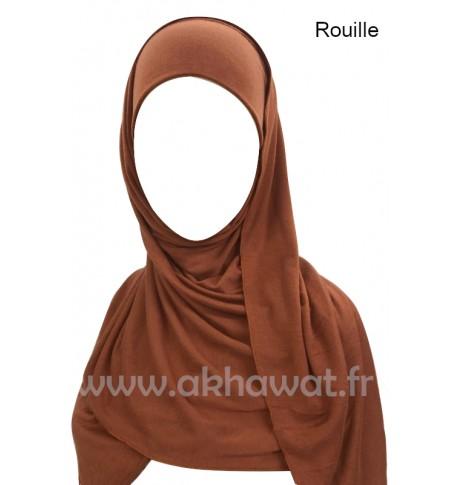 Hijab bonnet intégré simple - Viscose