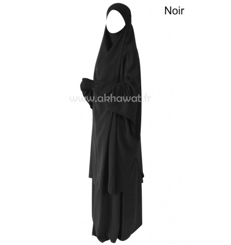 French Jilbab with flared skirt - Light microfiber